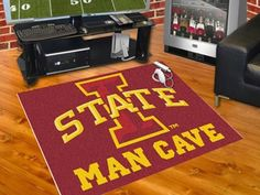 FanMats Iowa State University Man Cave All-Star Mat 34x45