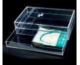 Clear acrylic storage box with two drawers DBS-041