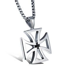 Men necklace vintage jewelry accessories stainless steel cross pendant chain necklaces cool jewellery friendship gift collier