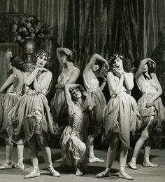 maudelynn:Ballerinas in The Rose Girl, at the Ambassador Hotel c.1921 by Ira Schwartzvia Grapefruitmoongallery.com