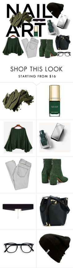 """""""Green With Envy: Wintery Nail Polish"""" by carliruiz ❤ liked on Polyvore featuring beauty, Bobbi Brown Cosmetics, Dolce&Gabbana, Burberry, Current/Elliott, Maison Margiela, 8 Other Reasons, Michael Kors, Vans and nailedit"""