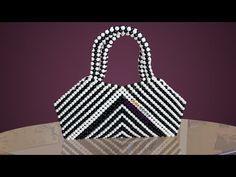 7d3408d48ff পুতির ব্যাগ/ How to make beaded zebra bag/ Beaded bag/ putir bag/