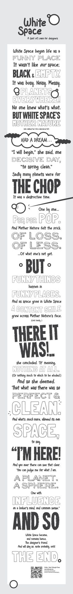 White Space infographic: A sort of poem for Designers.