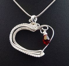 Valentine's day heart-shaped pendant with Czech by AnnaPdesign