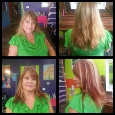Before and after with Loni at our Belknap location  #SalonPurple