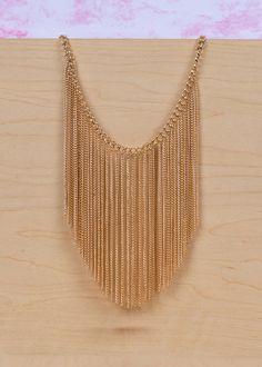 Collar de cadenas dorado con forma de cascada. Metal Unitalla Código del producto:1506933