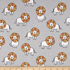Michael Miller Baby Zoo Flannel Dandy Lions Cloud from Designed by Michael Miller fabrics, this single napped (brushed on face side) flannel fabric is perfect for quilting, apparel and home décor accents. Colors include grey, orange, yellow and white. Baby Fabric, Michael Miller Fabric, Safari Nursery, Receiving Blankets, Cool Fabric, Fabric Swatches, Little People, Baby Zoo, Dandy