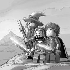 Lego The Hobbit on Behance