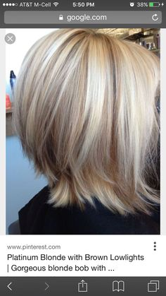 Platinum blond with honey blond low lights