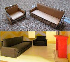 Как сделать домик для кукол и кукольную мебель своими руками