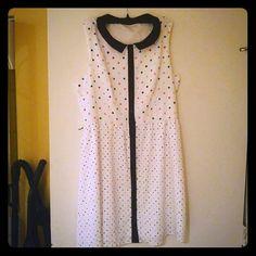 Dress GORGEOUS SLEEVELESS DRESS WITH PETER PAN COLLAR Eric and Lani  Dresses