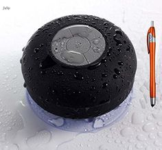 JuSp(TM), Mini Wireless Waterproof Bluetooth Shower Speaker Hands Free Speaker for iPhone /iPad / Cellphones-Black +1 Random Colorful Stylus Ballpoint Pen Gift JuSp http://www.amazon.com/dp/B00Q1INF3E/ref=cm_sw_r_pi_dp_7WYOvb12HBHDH