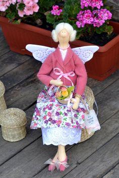 Tilda doll Garden Flowers Fairy. Handmade doll. by OksanaGryts