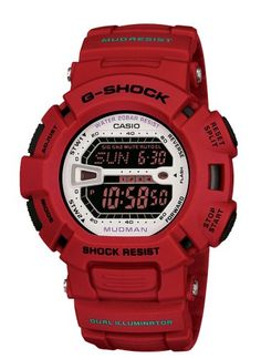 Men's Wrist Watches - Casio Mens G9000MX4CR GShock Mud Resistant Red Digital Watch -- Be sure to check out this awesome product.
