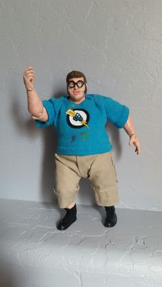 Bully scholarship edition Zack Owens custom action figure by Draven. Created from king kong bundy wwe figure. Jakks 2003.