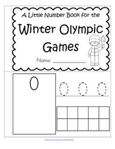 FREE This is a booklet to review and practice counting and number recognition 0-10. It has a WINTER OLYMPIC GAMES theme. Children can recognize the numerals, count the sets, trace the numbers, and fill in the 10-frames by stamping or coloring.