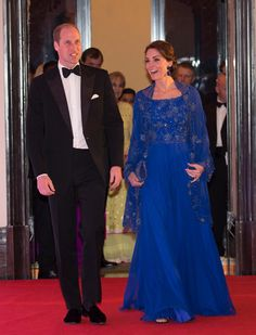 Catherine, Duchess of Cambridge and Prince William, Duke of Cambridge arrive ata Bollywood Inspired Charity Gala at the Taj Mahal Palace Hotel in Mumbai, India, on the first day of their visit.