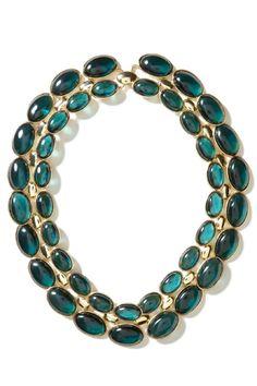 .:* L -  Banana Republic Teal Stone Layered Necklace, available at Banana Republic.…