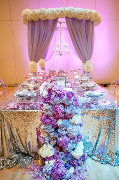 Purple Wedding Ideas - Radiant Orchid & Blue Hydrangeas available at www.flyboynaturals.com