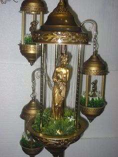 Ok - remember these oil rain hanging lamps - NOT my style but going for hundreds of dollars on Ebay