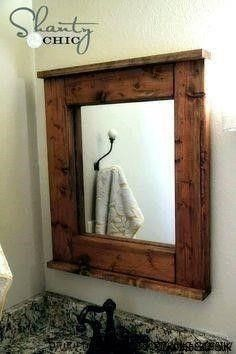 Rustic Mirrors, Wood Mirror, Diy Mirror, Mirror Ideas, Framed Mirrors, Woodworking Plans, Woodworking Projects, Diy Projects, Diy Furniture