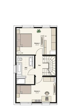 Petri Quartier am Jungfernsee House Layout Plans, Small House Plans, House Layouts, Facade House, House Rooms, Bungalow, Tiny House, Home Goods, Floor Plans