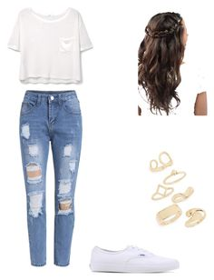 """""""Untitled #74"""" by ooosisieieie on Polyvore featuring MANGO, Vans and Topshop"""