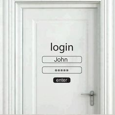 that's how my door look. I take my username and password to open my door