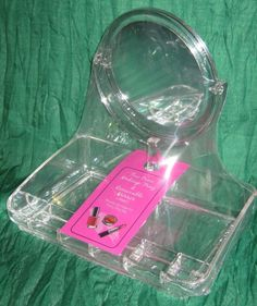 Clear Acrylic Cosmetic Makeup Organizer With Removable Two-Sided Mirror NWT#MS06 #TriCoastalDesign