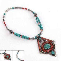 Nepalese Handmade Tibetan silver Turquoise Coral Round Amazing Necklace | Joyería y relojes, Étnicos, regionales y tribales, De Asia e India oriental | eBay!
