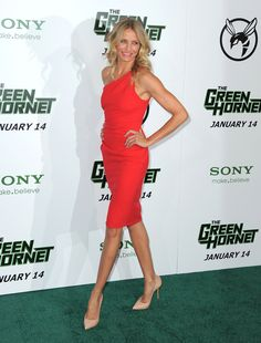 One of our favorites in a standout color and perfect, curve-hugging fit for The Green Hornet Premiere in Ja...