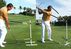 When your hands hit the top of a golf swing, and the club is parallel to the surface, the swing slows to continue the down wing only slightly. After the pause, you want to keep your lower body swing. Golf Swing Analyzer, Golf Swing Training Aids, Workout Tips, Fitness Tips, Feels, Surface, Hands, Club, Top