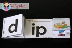 Preschool Letter P Word Family Flip Book Rhyming Activities, Classroom Activities, Classroom Ideas, Teaching Aids, Teaching Reading, Montessori, Kindergarten Literacy, Literacy Centers, Reading Words