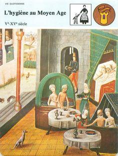 FICHE Hygiene Moyen age Baignoire Maison Salle de bains Savon Publics FRANCE 80s | eBay