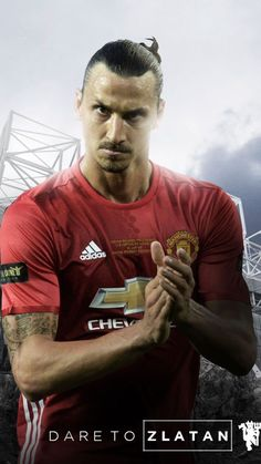 Ibrahimovic Manchester United 16/17 home soccer jersey.