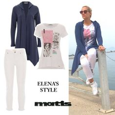 White shades meet navy style!