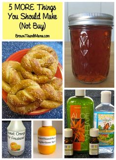 Make your own natural hand sanitizer, copycat Febreze, and more for pennies! This is amazing and so easy to do!