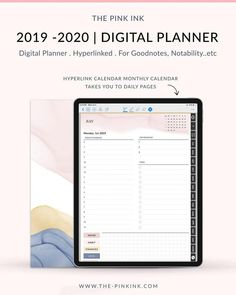 Dream Collection Digital Planner Bundle Dated 2020 Digital Project Planner, Planner Tips, Goals Planner, Daily Page, Planner Dividers, Journal Template, Digital Journal, Business Planner, Good Notes