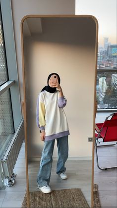 Hijab Fashion Summer, Street Hijab Fashion, Korean Fashion Dress, Muslim Fashion, Fashion Outfits, Casual Hijab Outfit, Cute Casual Outfits, Korean Outfit Street Styles, Hijab Fashion Inspiration