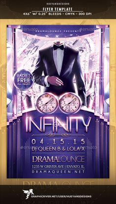 Infinity Flyer — Photoshop PSD #fashion #tuxedo • Available here → https://graphicriver.net/item/infinity-flyer/10514052?ref=pxcr