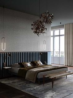 Beautiful interiors that combine an old warsaw mood with contemporary style. Featuring retro style furniture designs, rustic wood accent pieces and light decor. Modern Bedroom Design, Home Interior Design, Interior Decorating, Luxury Interior, Contemporary Bedroom Decor, Interior Colors, Interior Livingroom, Interior Plants, Apartment Interior