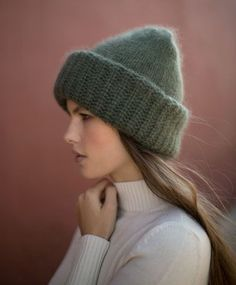 Samuji Khaki Chunky Beanie (which is totally Card Room Green. Wooly Hats, Knitted Hats, Winter Basics, Crochet Cap, Beanie Hats, Beanies, Cozy Fashion, Knitting Accessories, Bandeau