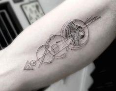 Стильные и геометрические татуировки от Браяна Ву.