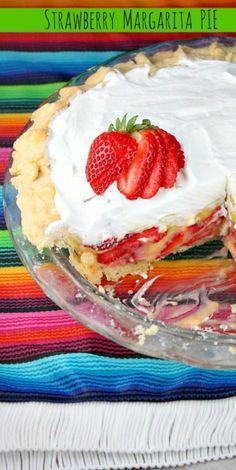 Strawberry Margarita Pie recipe from RecipeGirl.com #strawberry #margarita #pie #recipe #RecipeGirl Margarita Pie, Strawberry Margarita, Strawberry Desserts, Köstliche Desserts, Delicious Desserts, Dessert Recipes, Yummy Food, Pie Recipes, Mexican Food Recipes