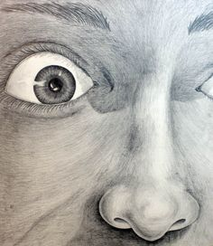 """Suprise face detail by Kelly Wood (Pencil) 20""""x30"""""""