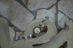"""Armband+Glasschliffperlen+""""Vogel+Pepe""""+von+MarLinas+Blickfänge+auf+DaWanda.com"""