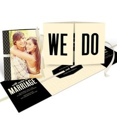 Tied Up In Love -- Unique Photo Wedding Invitations