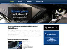 Autokorjaamo Tmi Kukkonen Ari sai uuden ilmeen kotisivuilleen Kotisivukoneen Avaimet käteen -palvelun avulla.