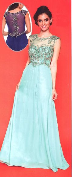 Prom Dresses Evening Dresses<BR>571<BR>Sheer scoop neckline over sweetheart bodice and back embellished with bead work