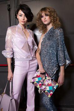 Aigner at Milan Fashion Week Spring 2017 - Backstage Runway Photos